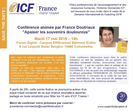 2016 coaching week ICF invitation conference France doutriaux mini