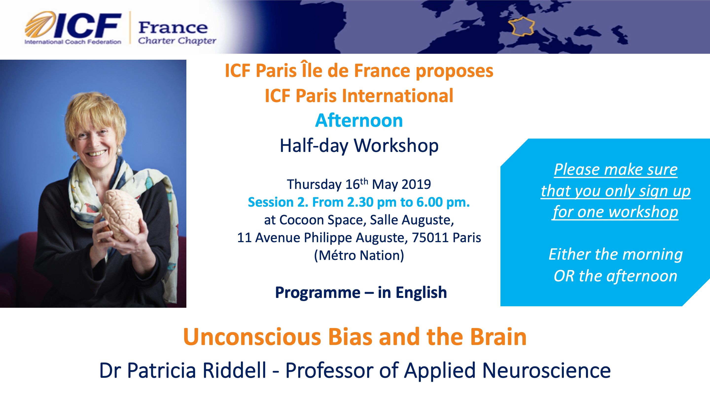 057d277c8a17  Paris 11  Unconscious Bias and the Brain - Patricia Riddell Thursday 16th  May 2019 Afternoon